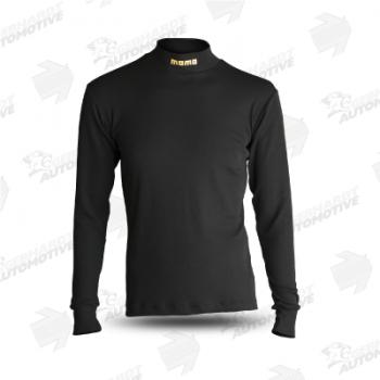 Comfort Tech Langarmshirt mit Stehkragen schwarz