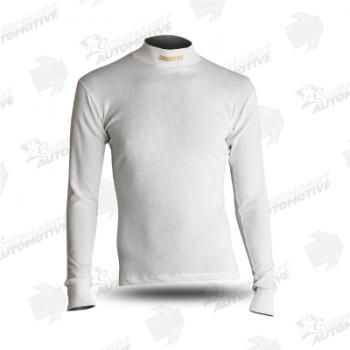 Comfort Tech Langarmshirt mit Stehkragen weiß